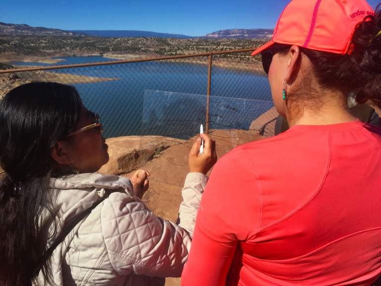 Sketching landforms at Abiquiu Reservoir.