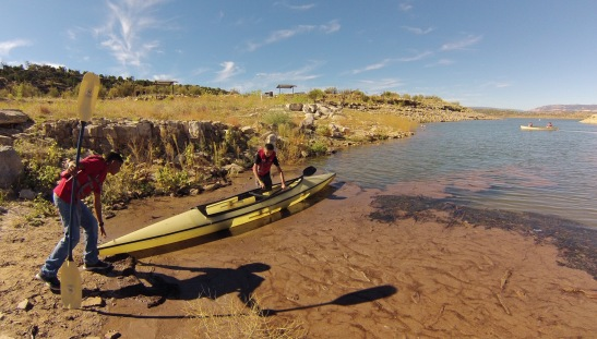 Launching the kayak!