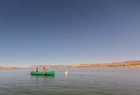 Paddling around a buoy
