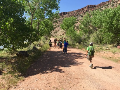 Heading off on a hike along the Rio Chama.