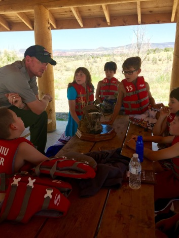 Ranger Austin explains why ducks float and children don't (without a life jacket).