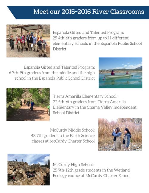 2015-2016 River Classrooms