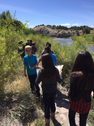 Beginning our exploration of the Rio Chama by taking a hike along the river